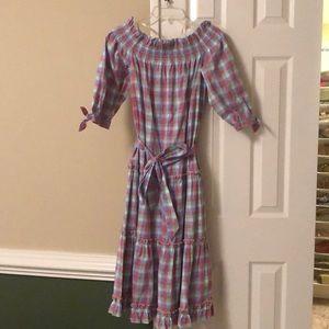 Kate Spade ♠️ gingham off shoulder dress